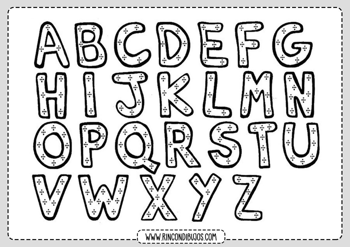 Abecedario Letras Colorear