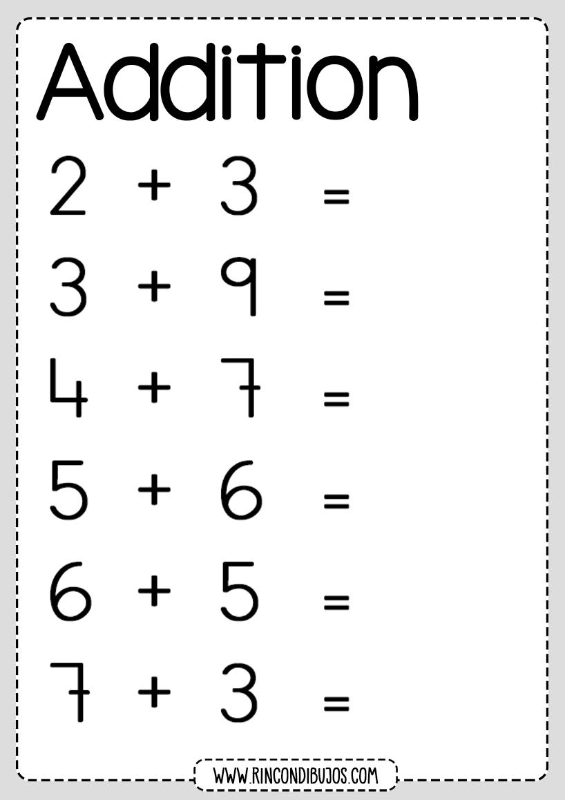 Addition Worksheets 2 digits