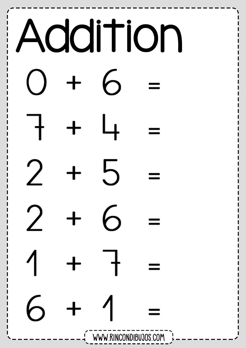 Addition worksheets grade 1