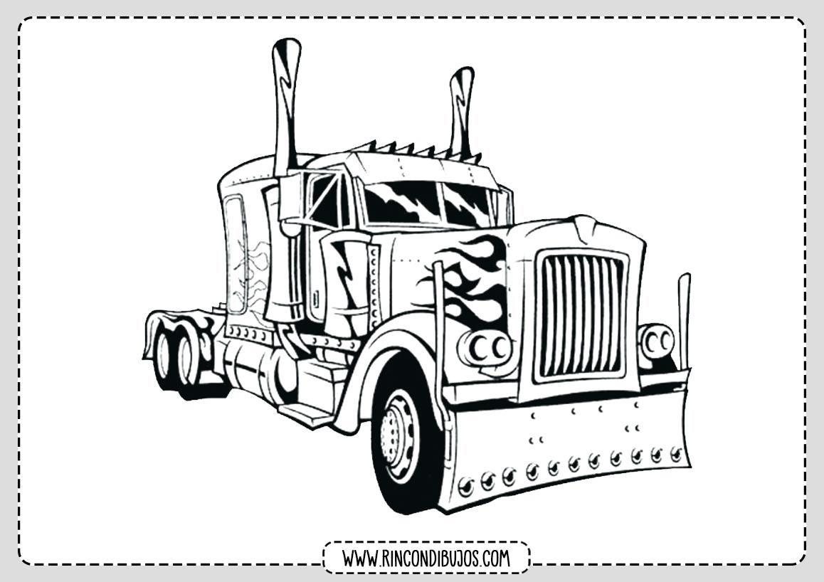 Camion para Colorear