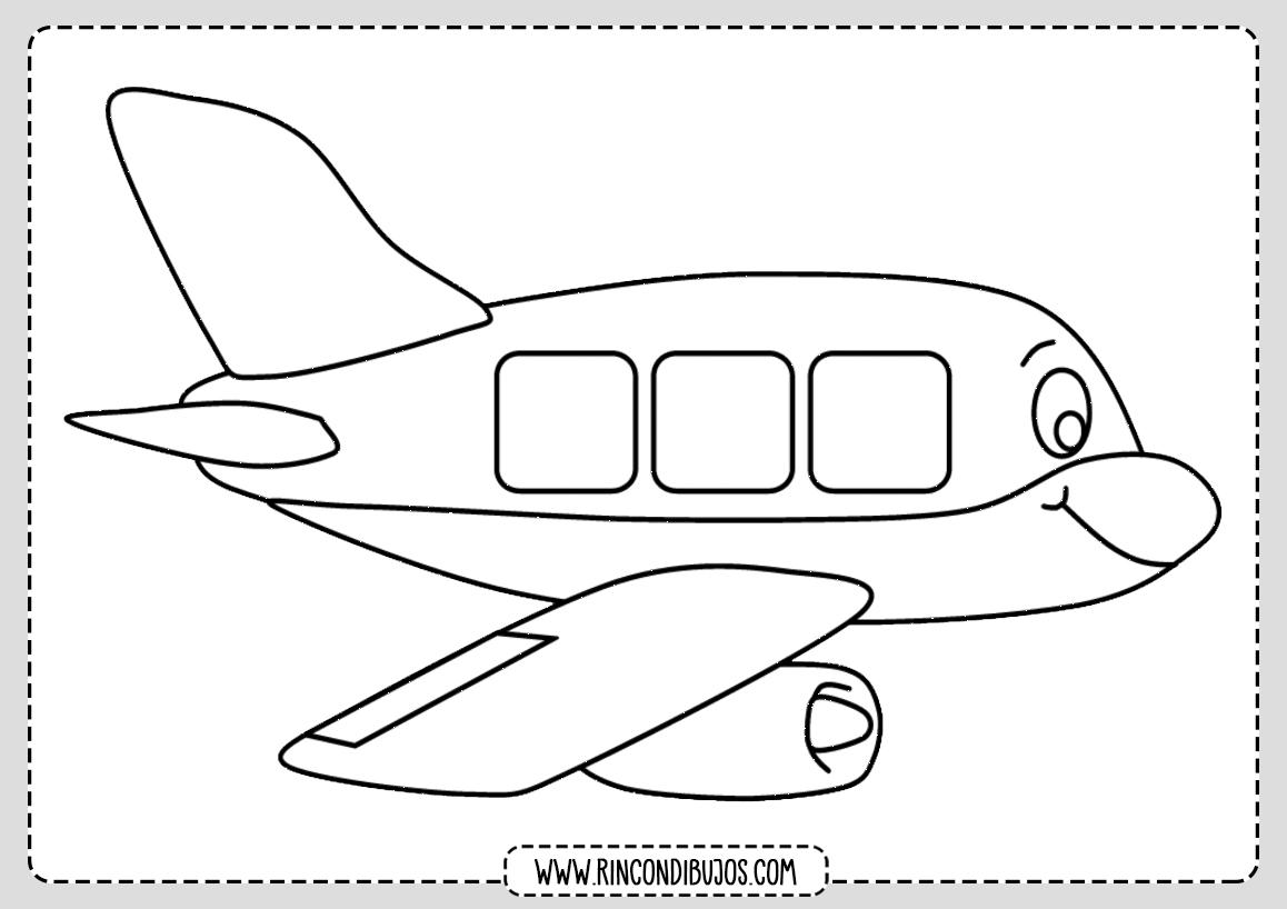 Colorear Dibujo de Avion