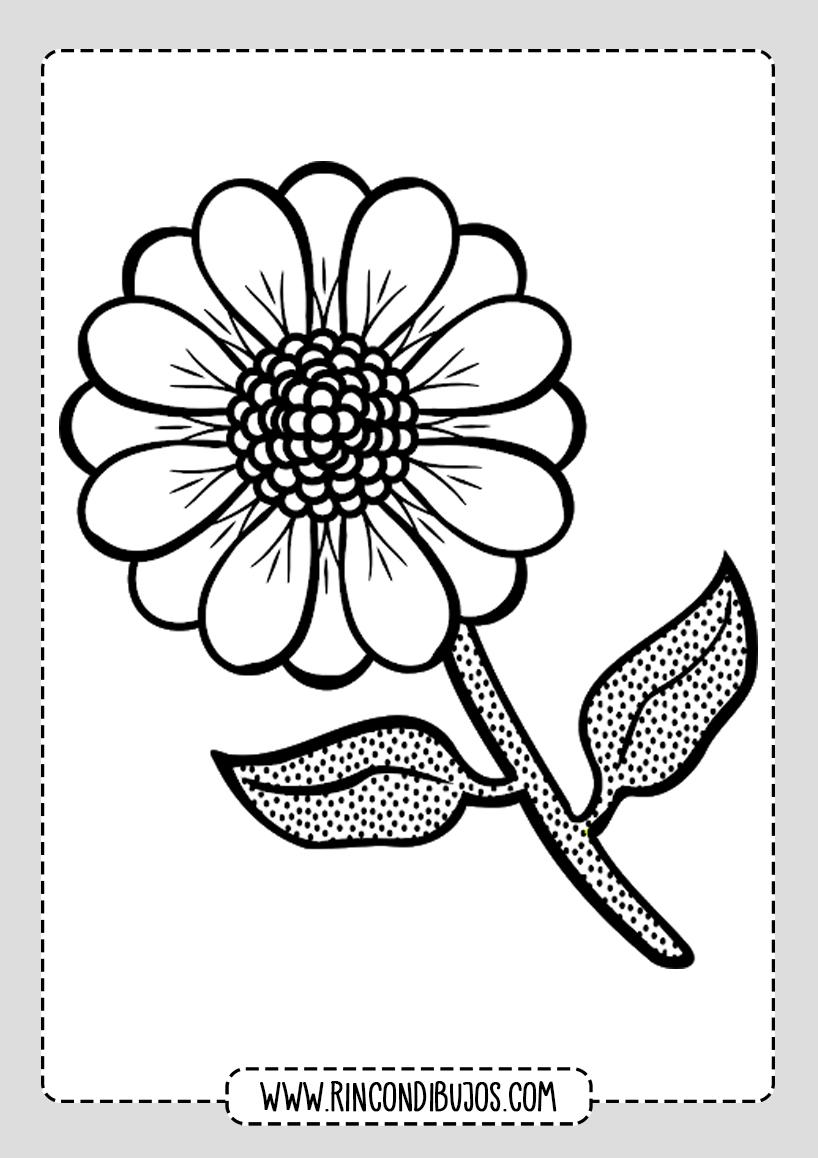 Dibujos De Flores Para Colorear Rincon Dibujos Laminas Para Colorear