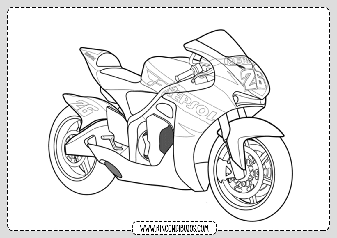 Colorear Dibujos de Motos
