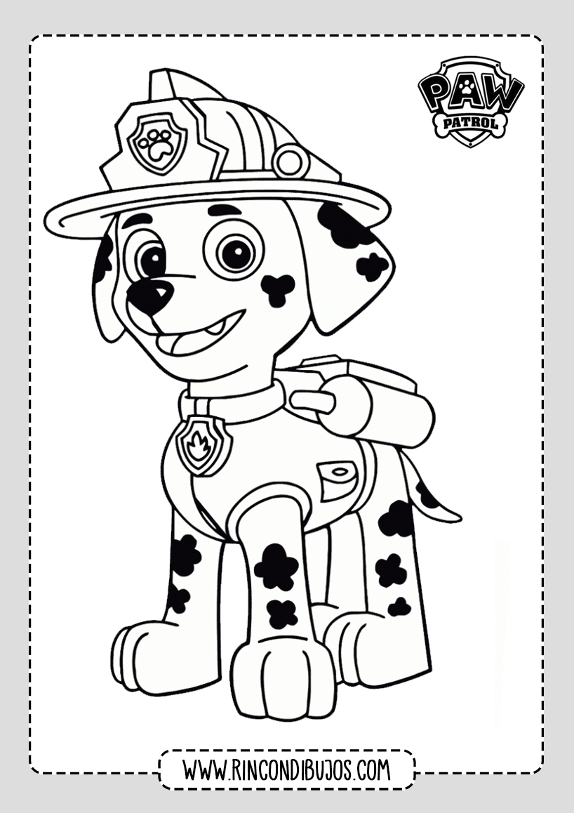 Colorear Dibujos de Patrulla Canina