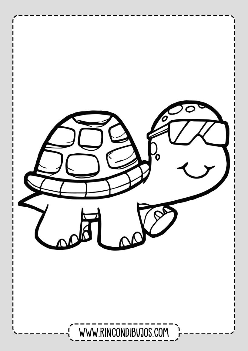 Colorear Dibujos de Tortugas