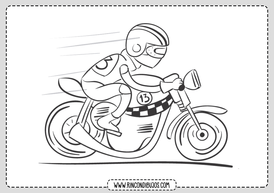 Colorear Moto