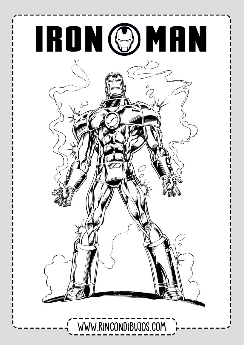 Colorear a Iron Man
