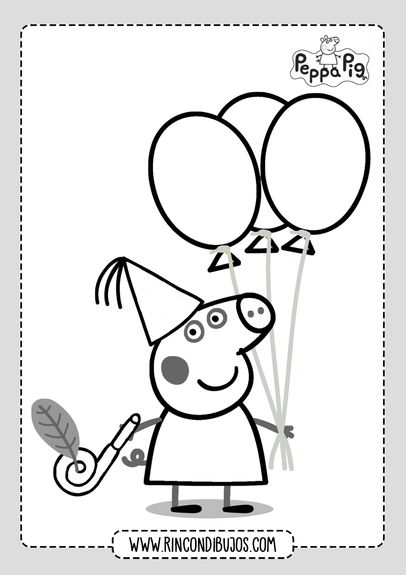 Dibujo Colorear Facil Peppa Pig