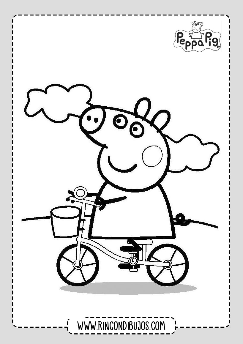 Dibujo Colorear Peppa Pig