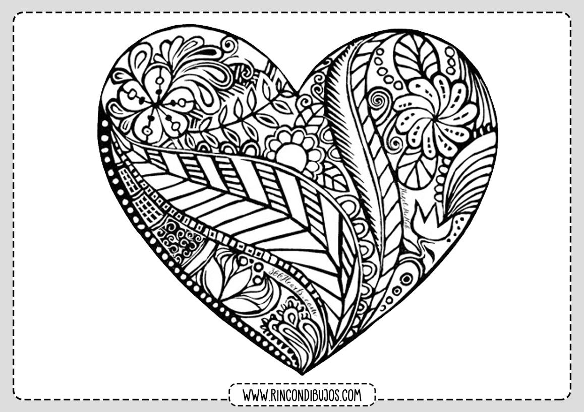 Dibujo Corazon Mandala