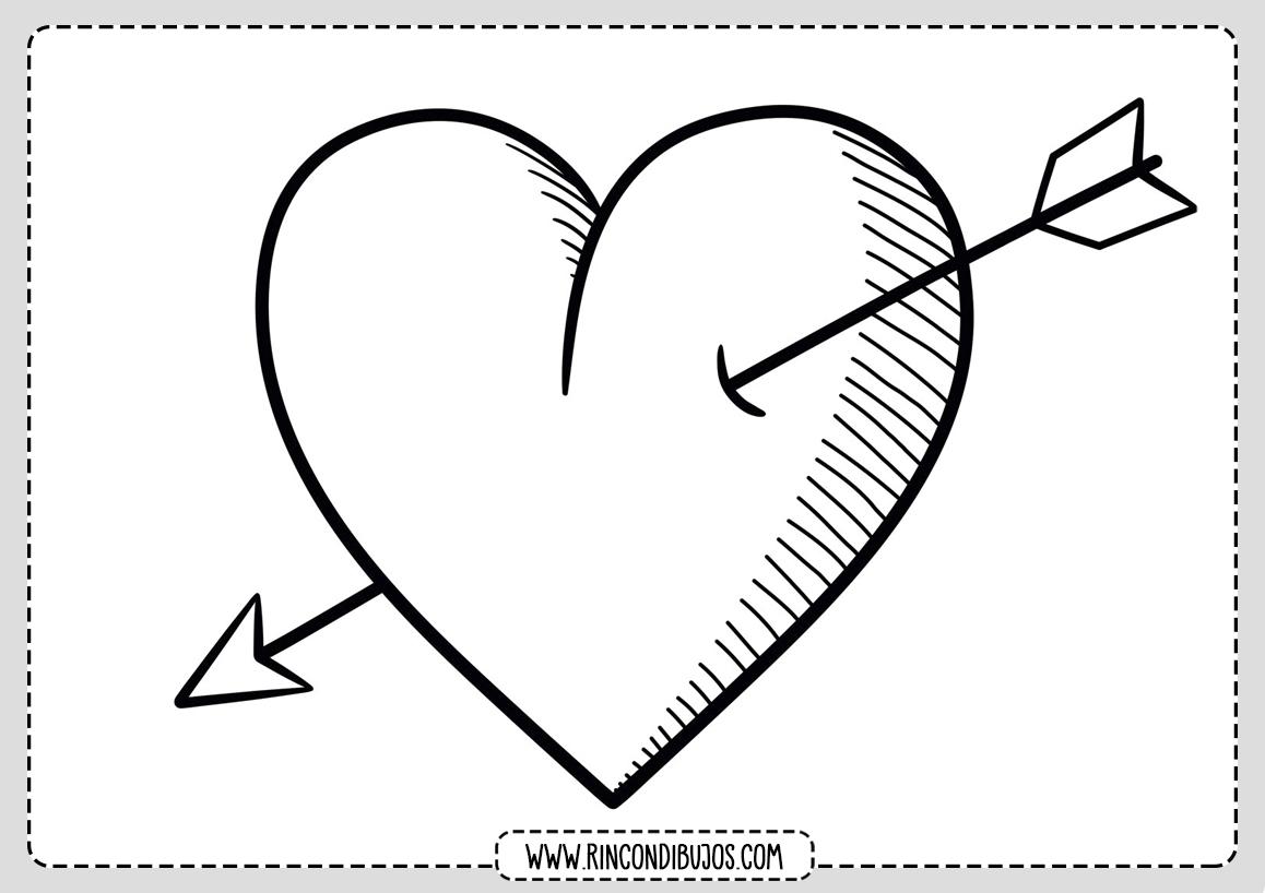 Dibujo Corazon con Flecha