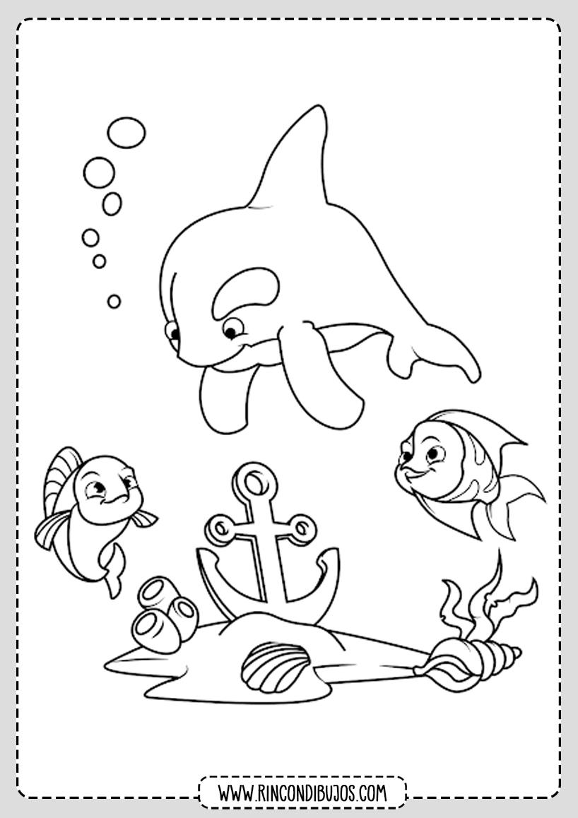 Dibujo El Mar para Pintar