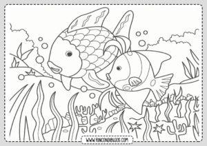 Dibujo Mar Peces Colorear