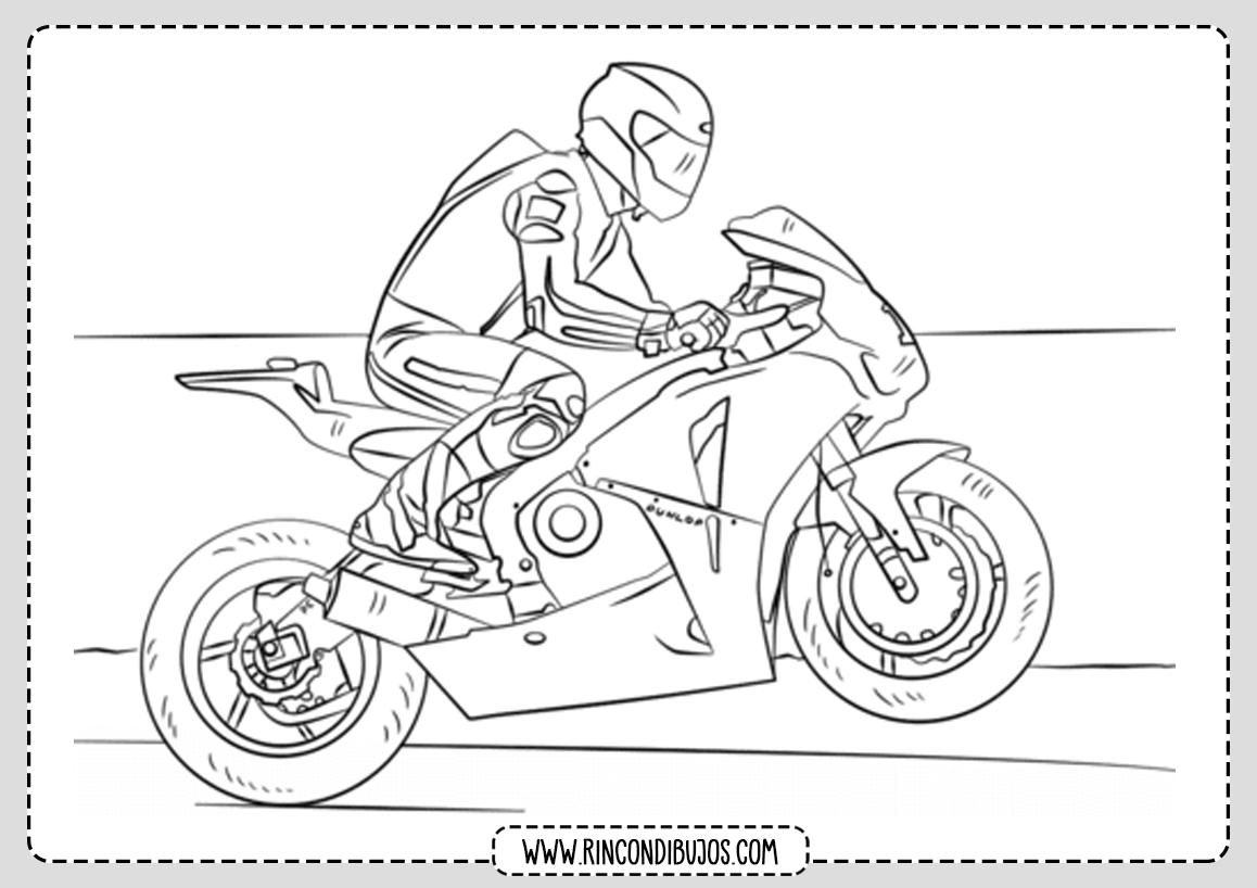 Dibujo Motocicleta Colorear