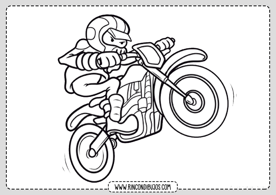 Dibujo Motorista Colorear