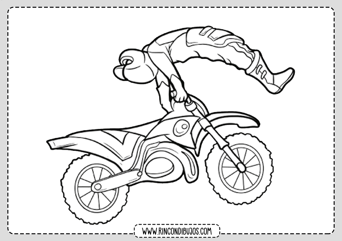 Dibujo Motorista para Colorear