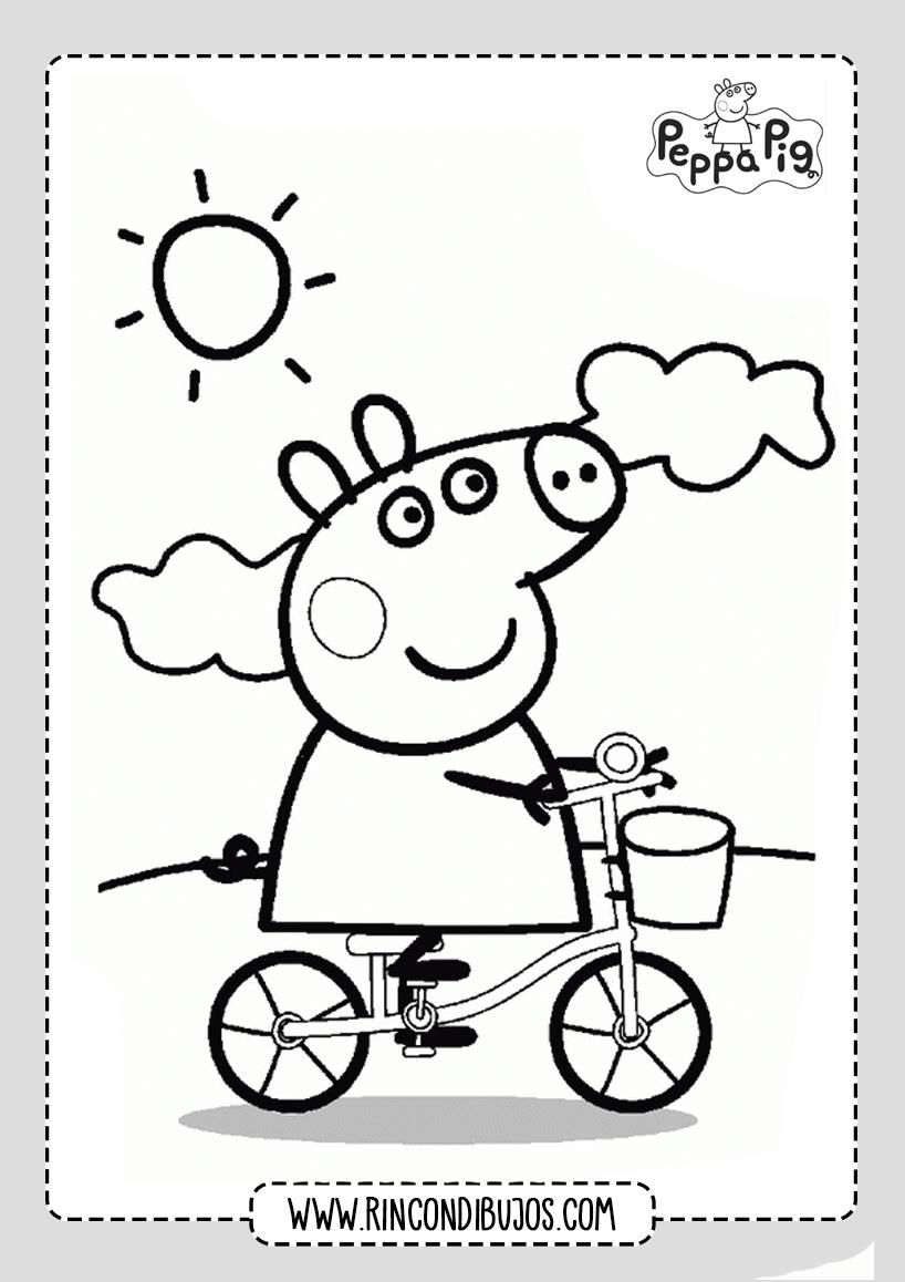 Dibujo Peppa Pig Jugando para colorear