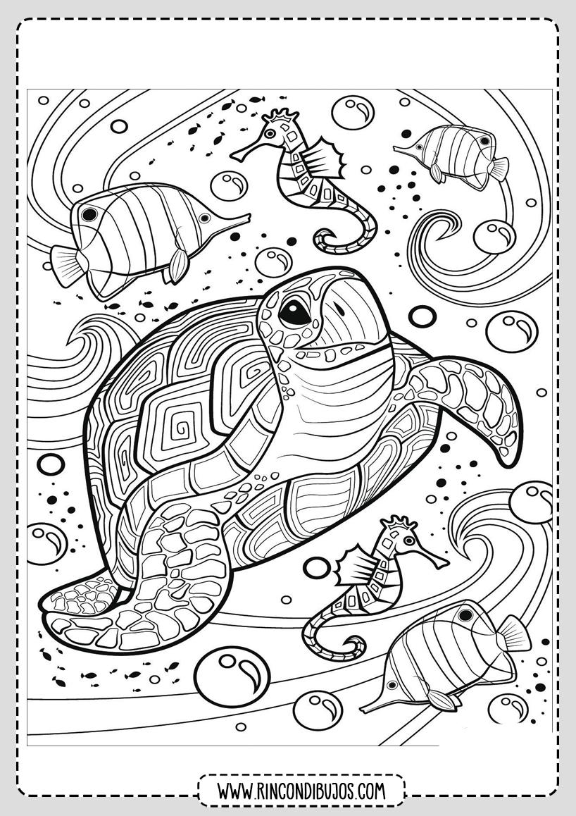 Dibujo Tortuga Marina Colorear