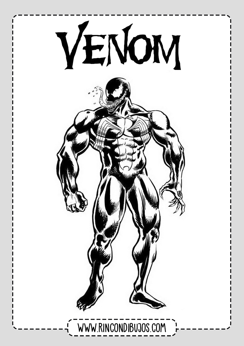 Dibujo Venom Colorear