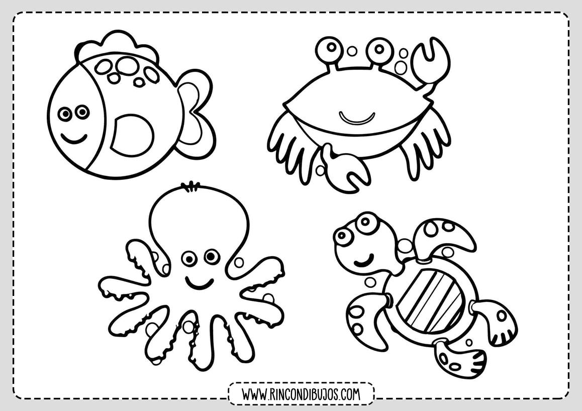 Dibujo de Animales Marinos para colorear