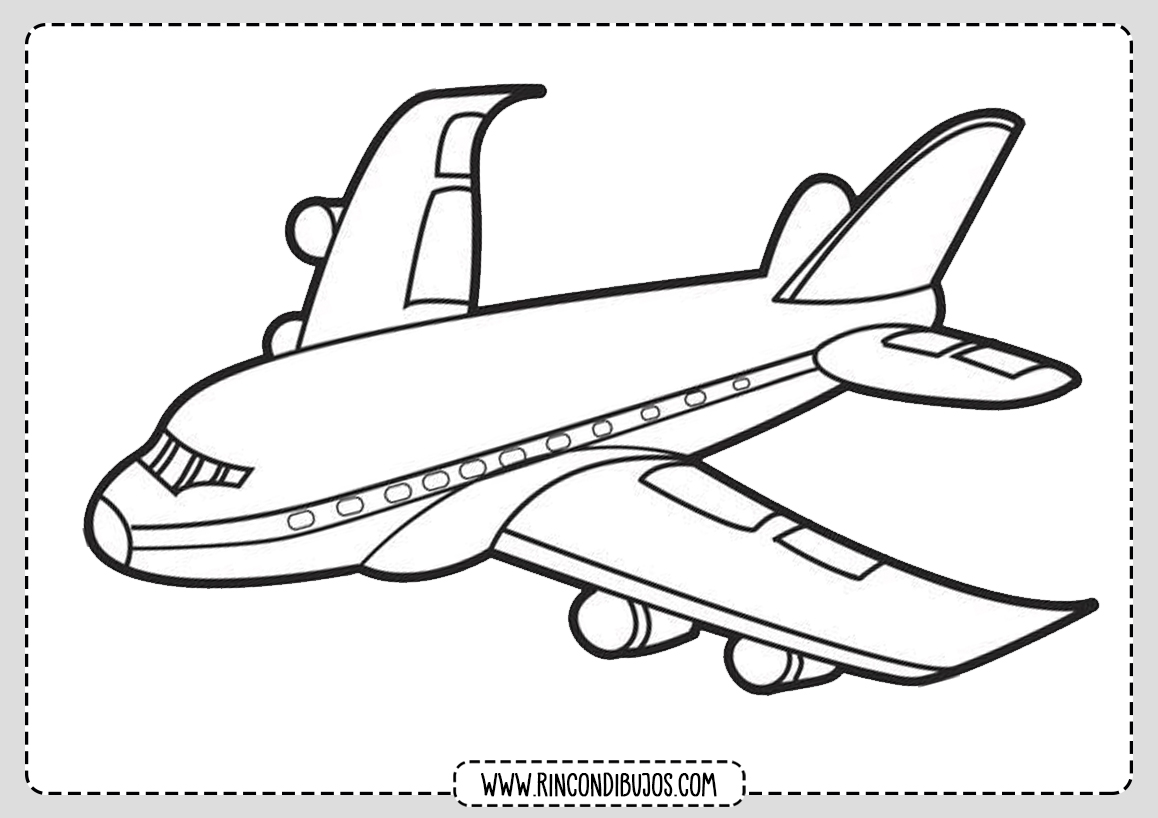 Dibujo de Avion Comercial Pintar