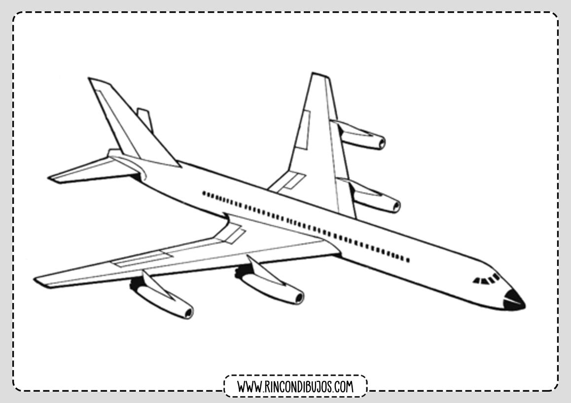 Dibujo de Avion Volando Colorear