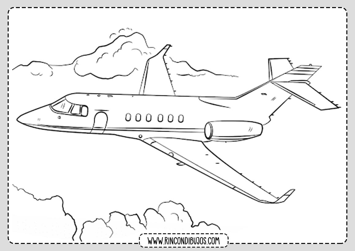 Dibujo de Avion en el aire
