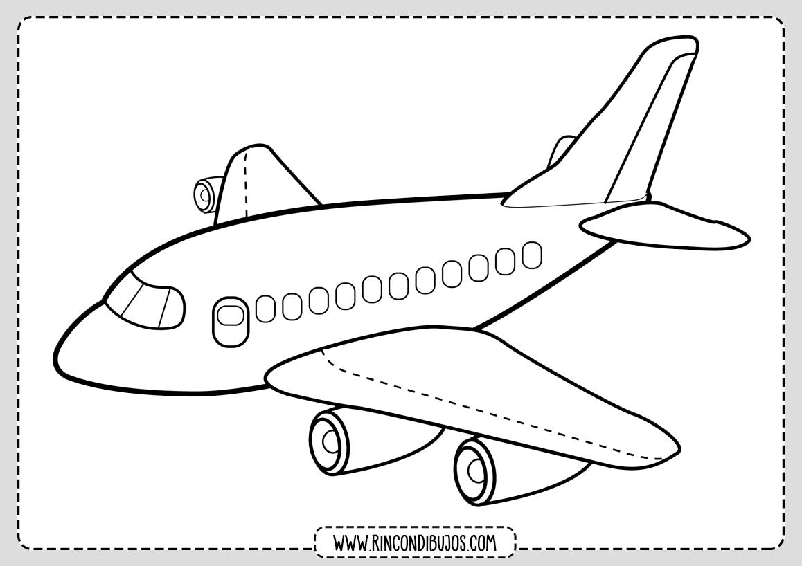 Dibujo de Avion para Colorar