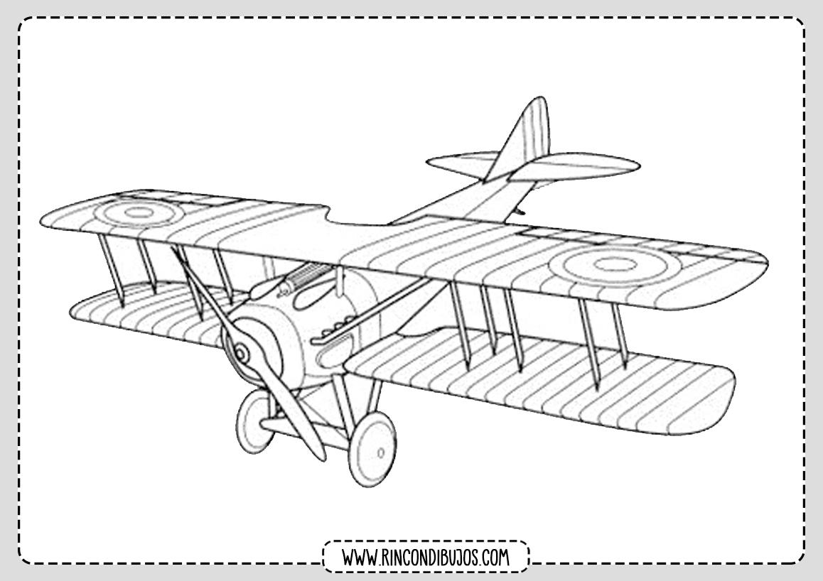 Dibujo de Avioneta para Colorear