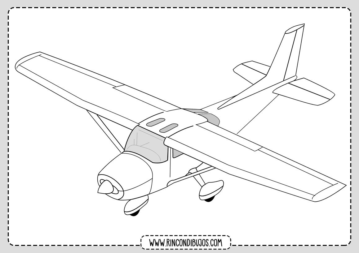 Dibujo de Avioneta para Pintar