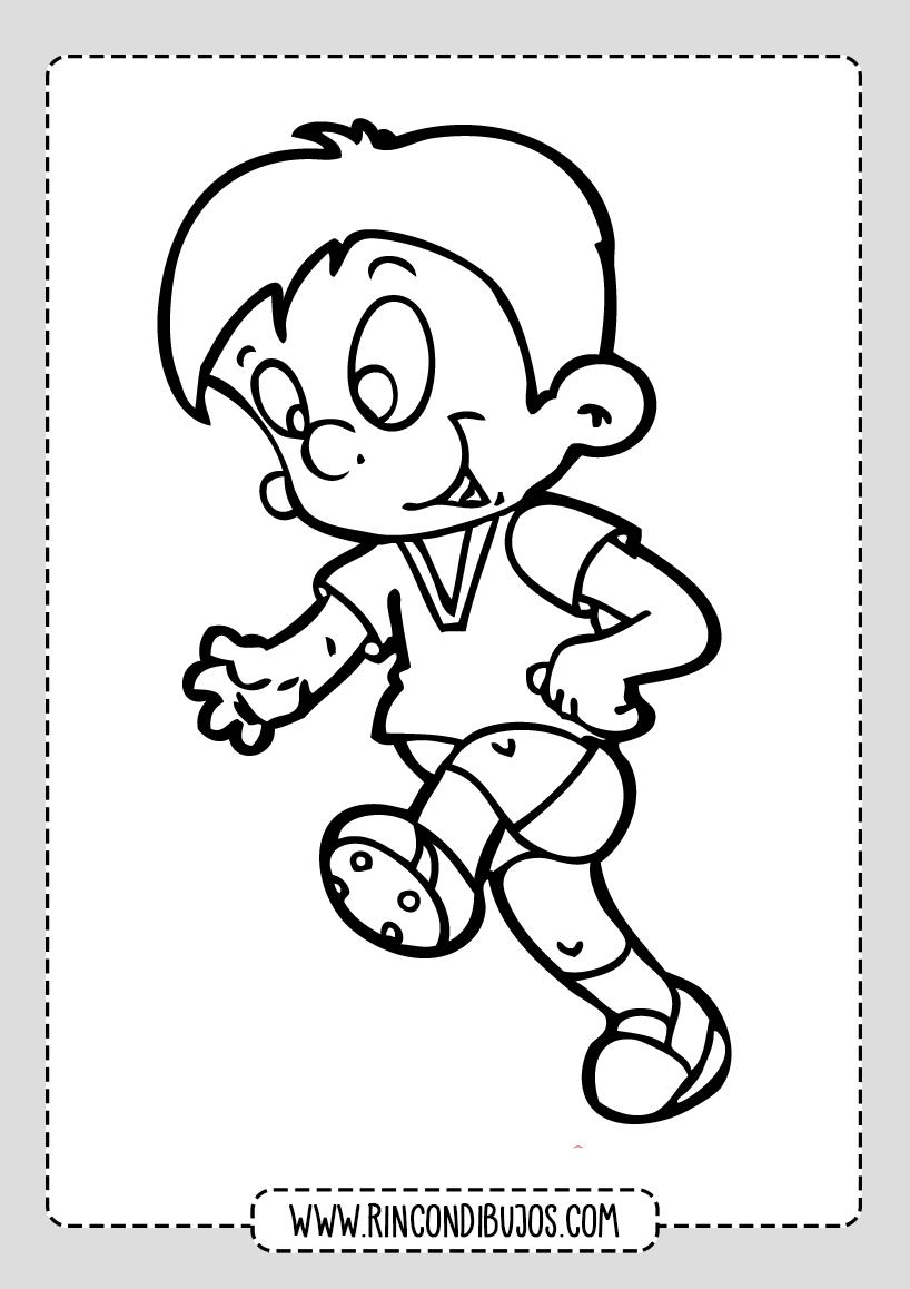 Dibujo de Niño corriendo
