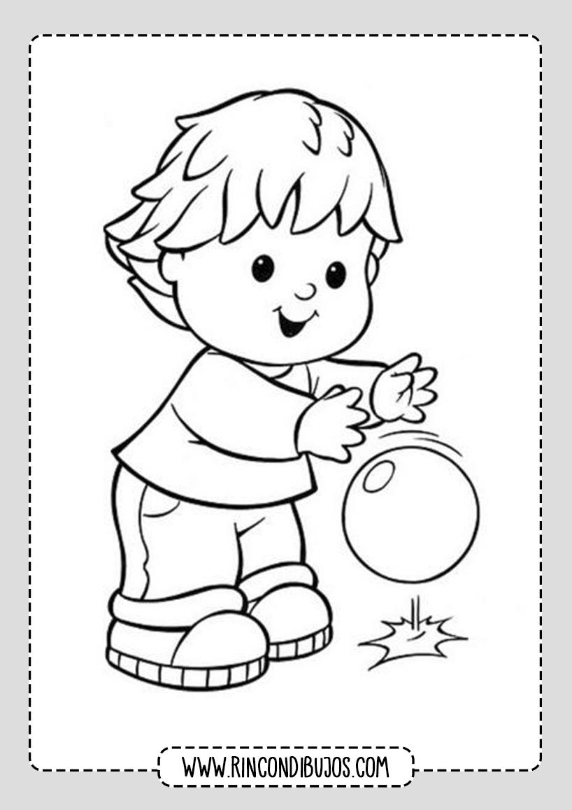 Dibujo de Niño jugando