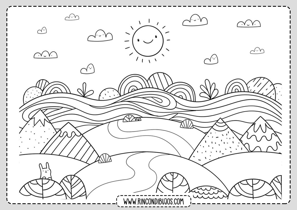 Dibujo de Paisaje para colorear