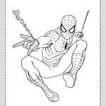 Dibujo de Spiderman volando
