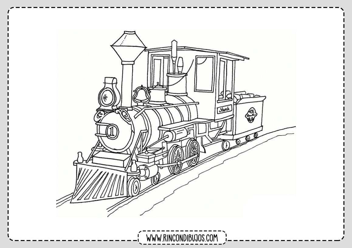 Dibujo de Tren Pintar