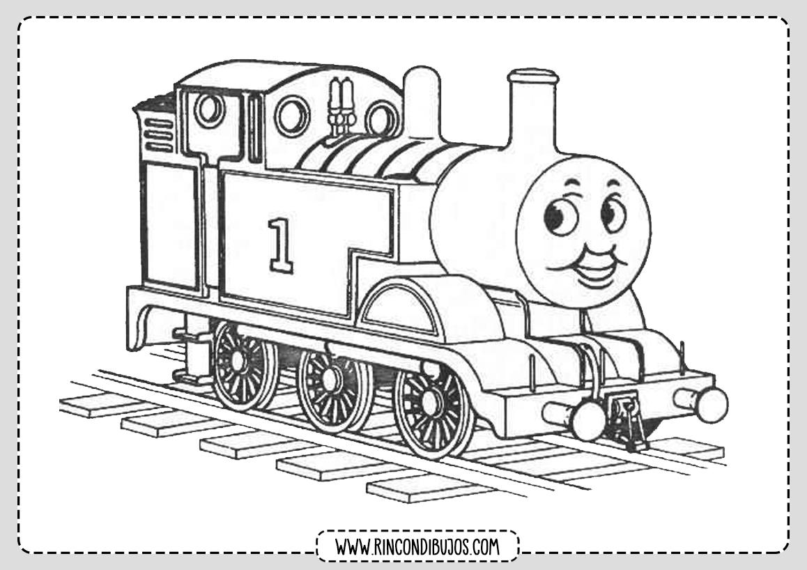 Dibujos Bonitos de Trenes para Colorear