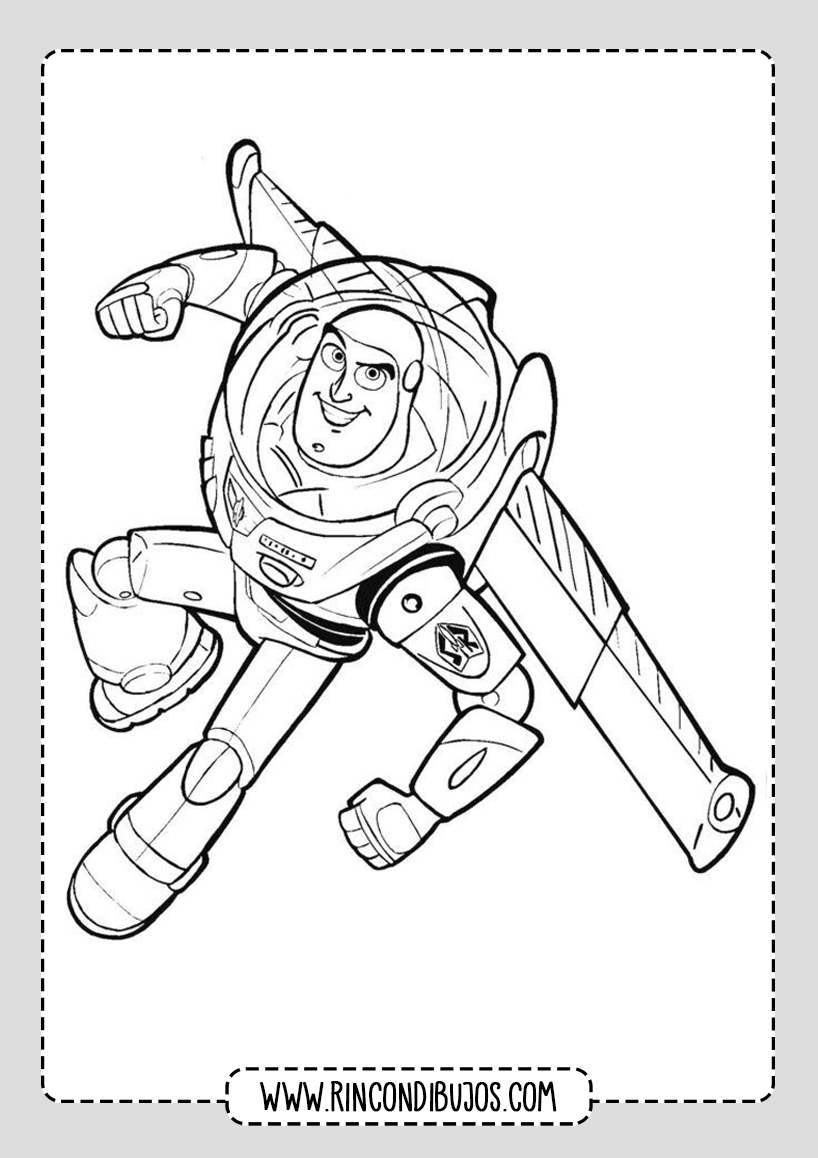 Dibujos Buzz Light Year Colorear Toy Story