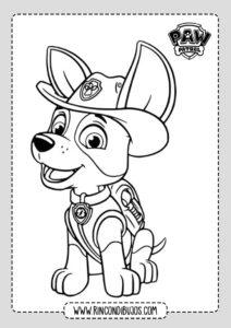 Dibujos Colerar Patrulla Canina en PDF