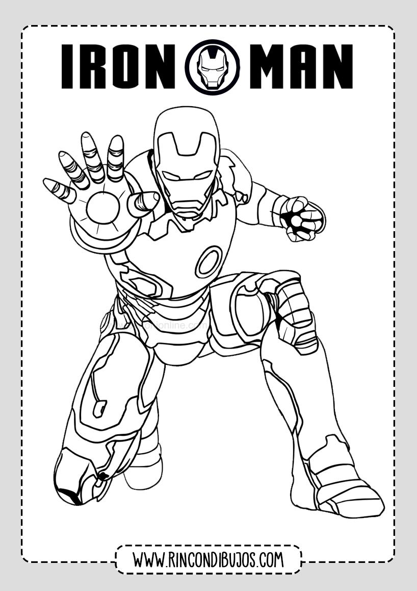 Dibujos Colorear Iron Man