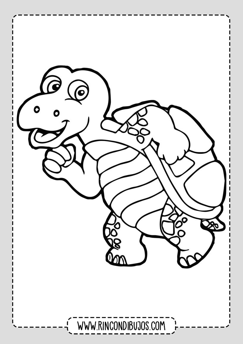 Dibujos Colorear Tortuga
