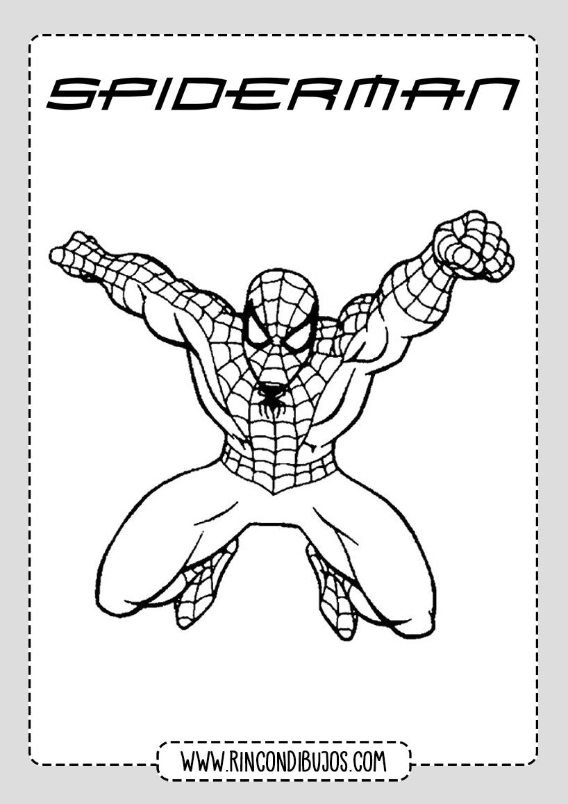 Dibujos Faciles Spiderman Colorear