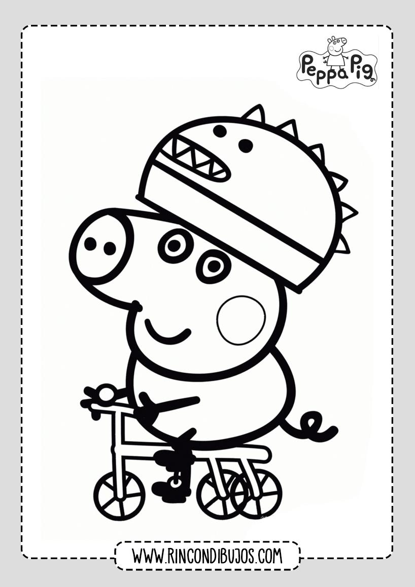 Dibujos PDF Peppa Pig Colorear