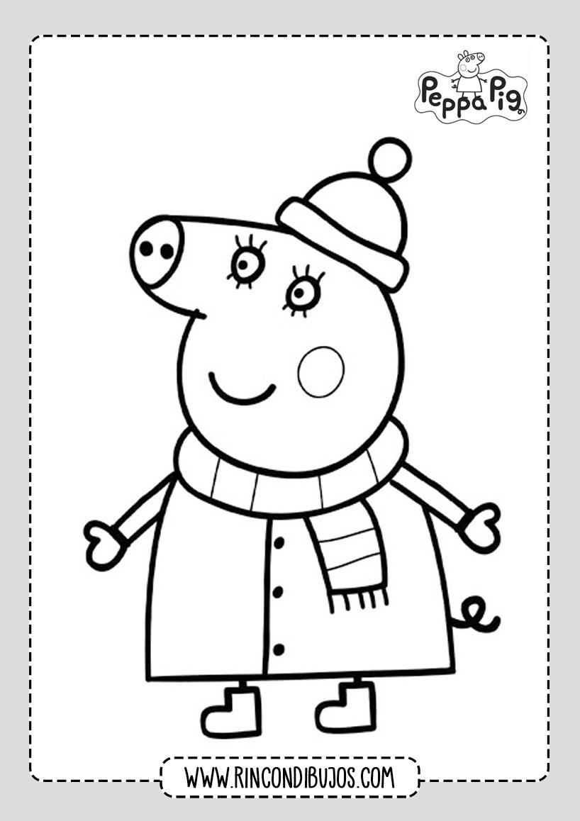 Dibujos Para Colorear Peppa Pig Bonitos
