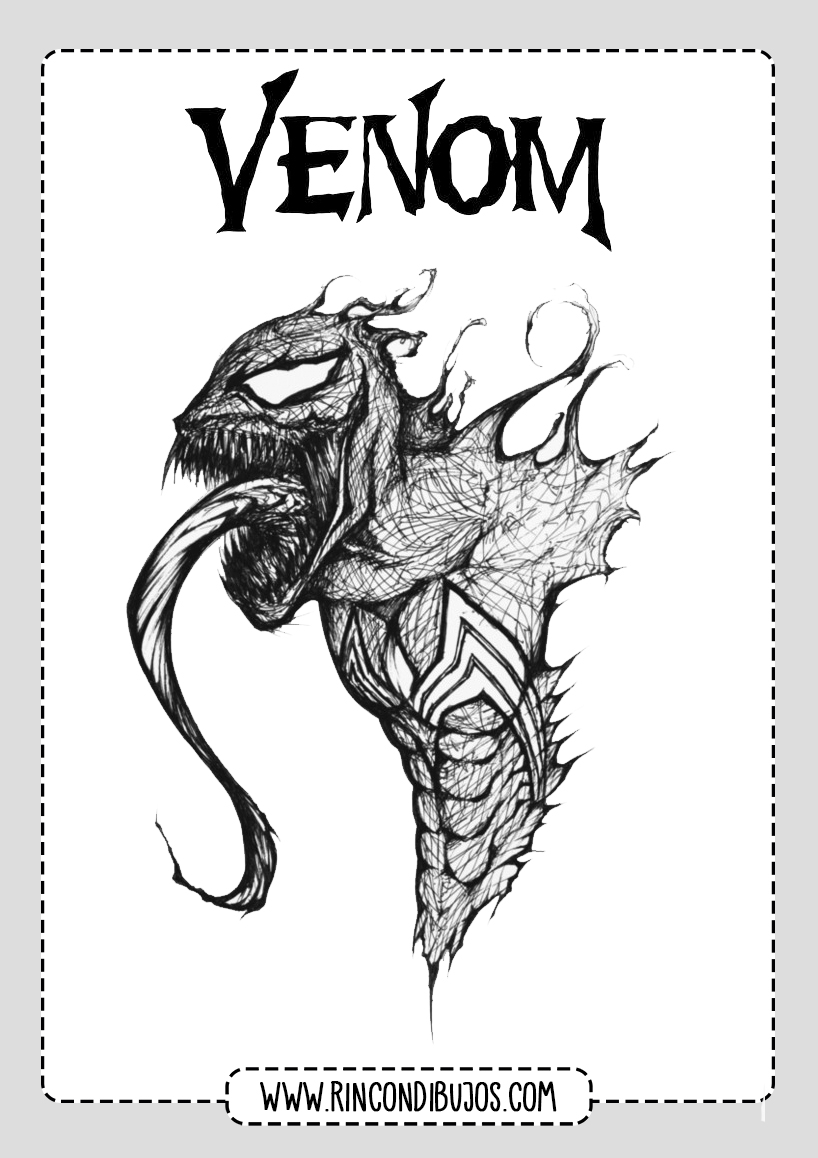 Dibujos Para Colorear Venom
