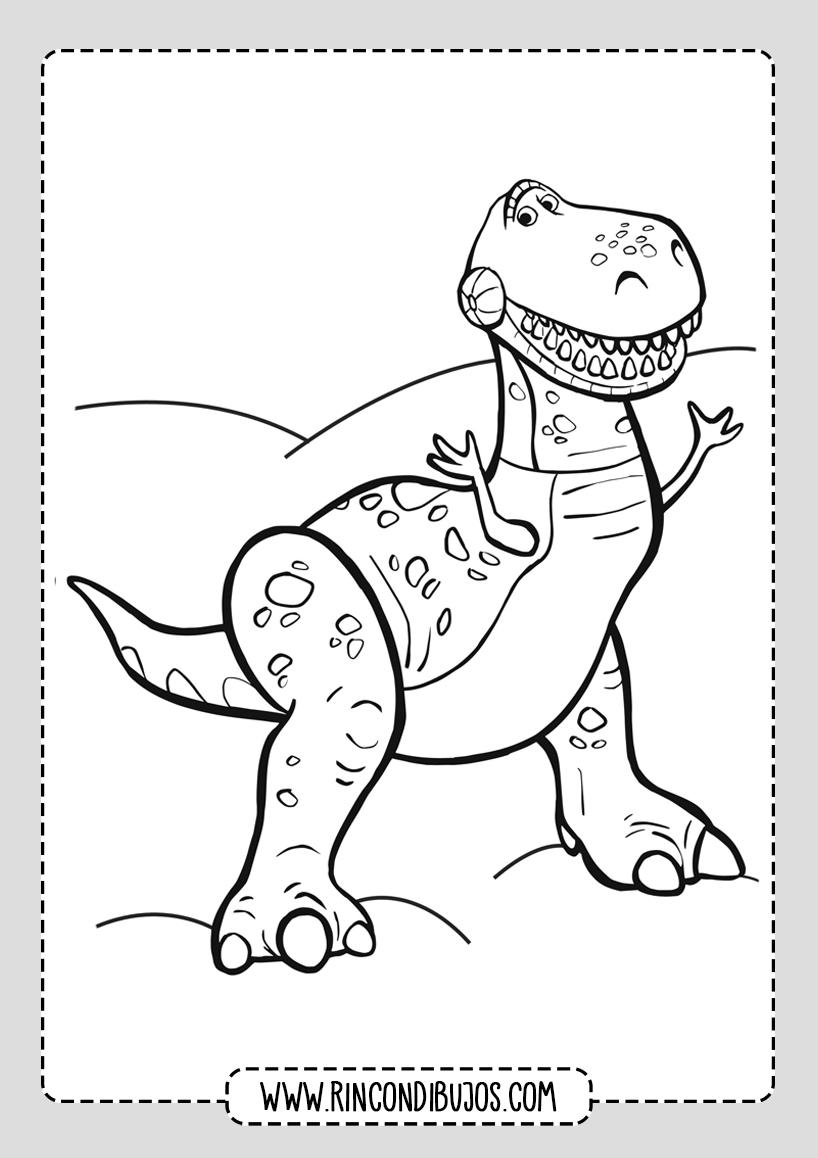 Dibujos Toy Story Colorear Dinosaurio