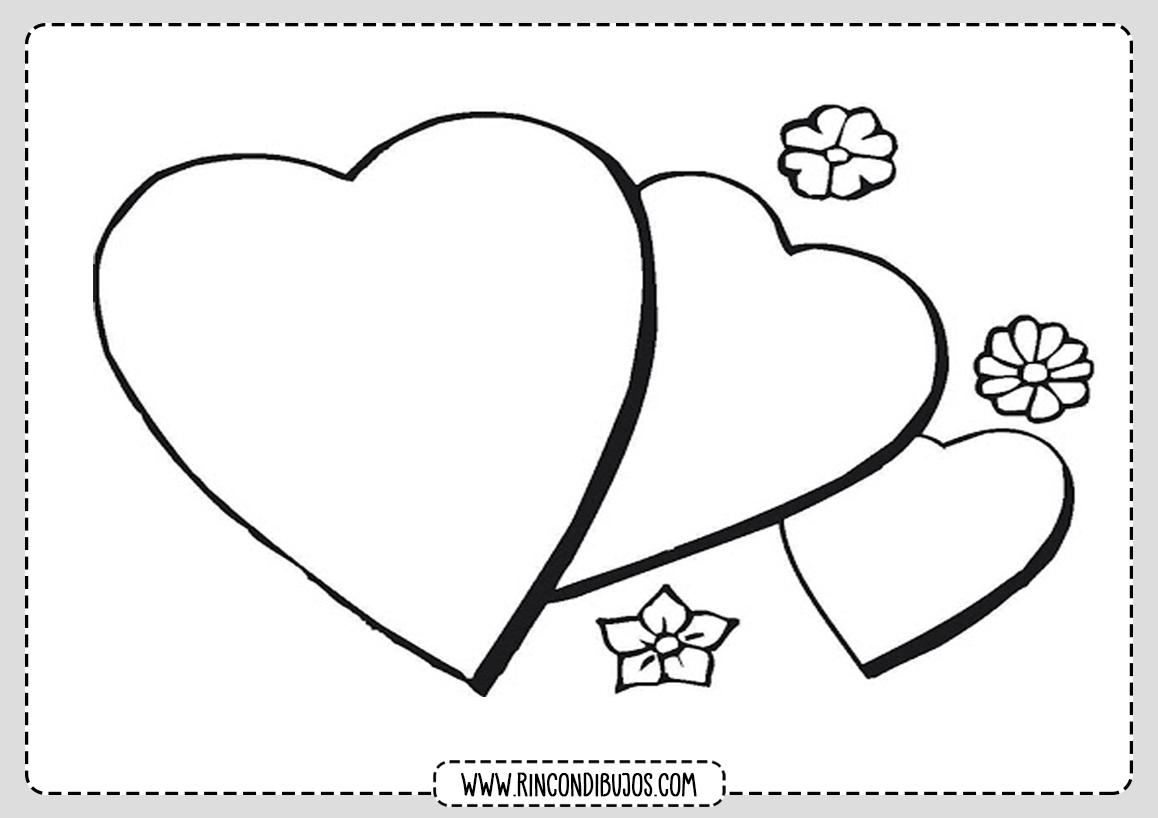 Dibujos de Amor Corazones Para Colorear