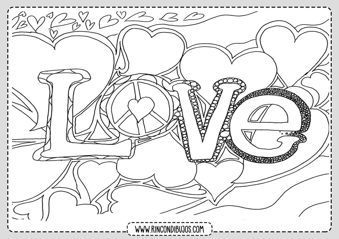 Dibujos de Amor Love Colorear