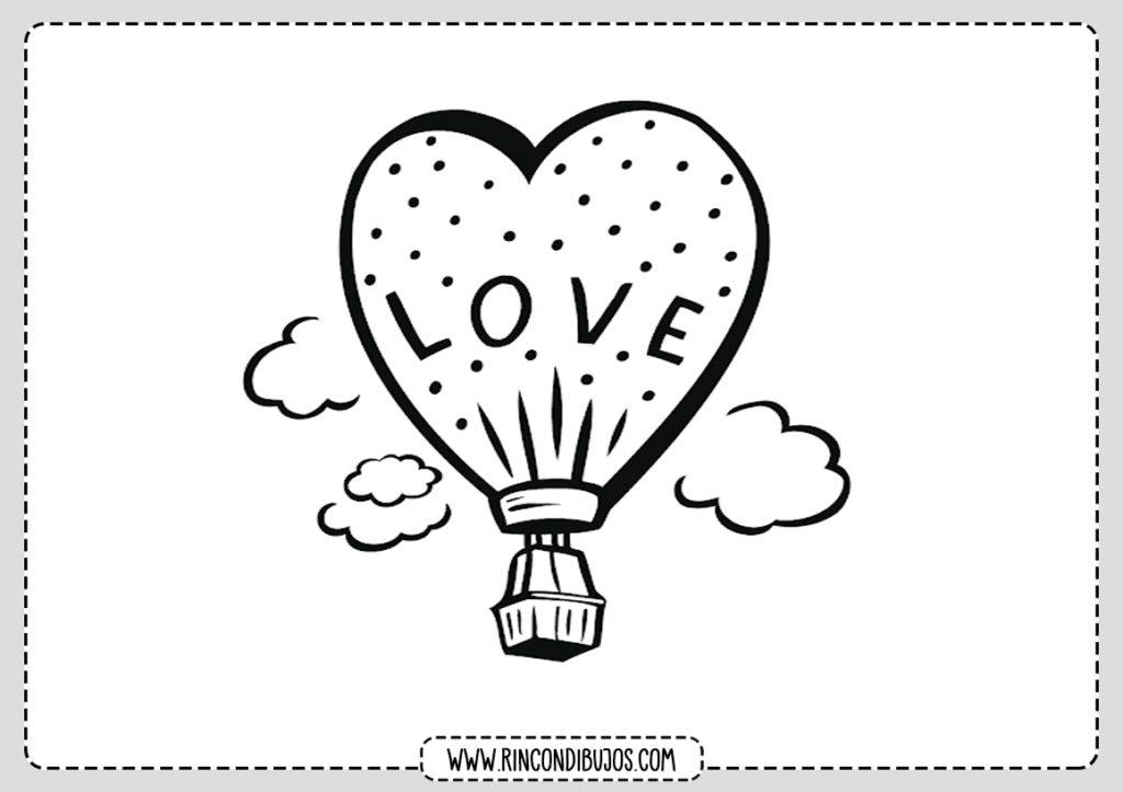 Dibujos de Amor Palabra Love para Colorear