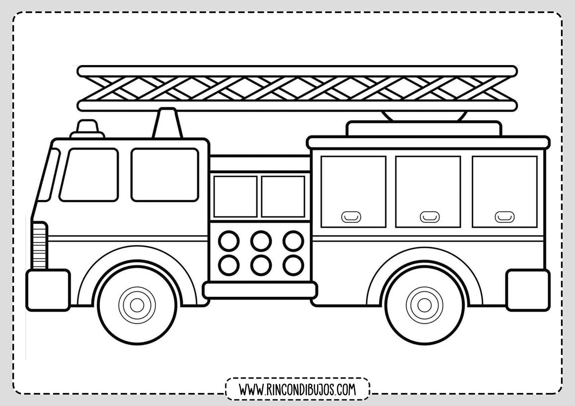 Dibujos de Camion de Bomberos Colorear