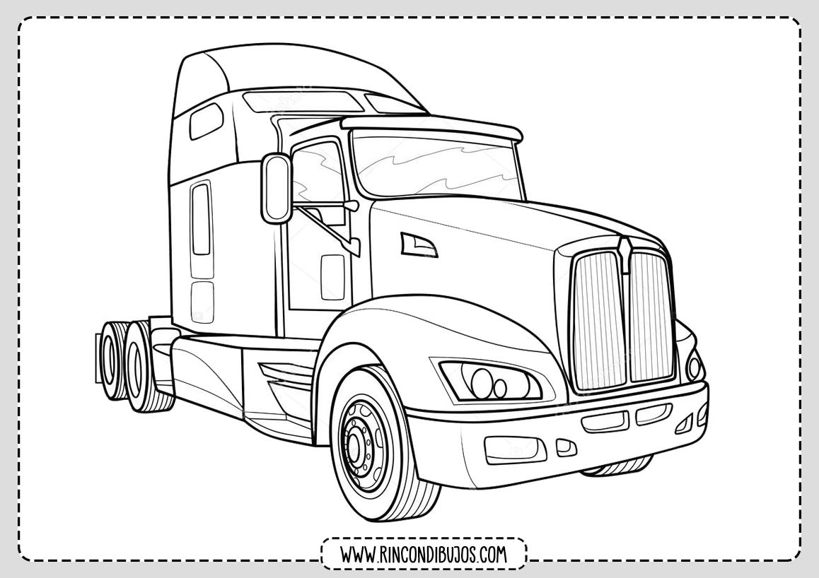 Dibujos de Camiones Grandes Colorear